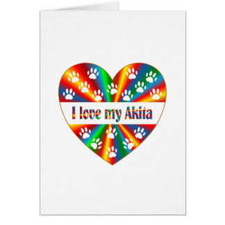 Akita Love Card