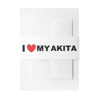 akita love invitation belly band