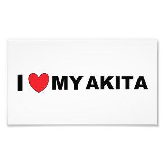 akita love photo print