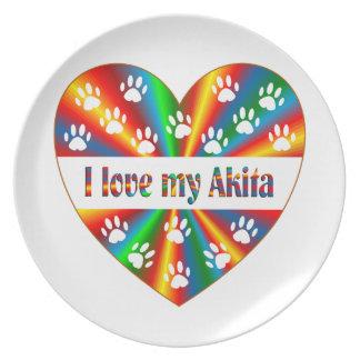 Akita Love Plate
