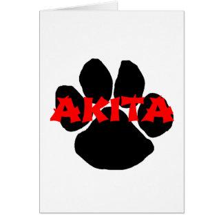 akita name paw card