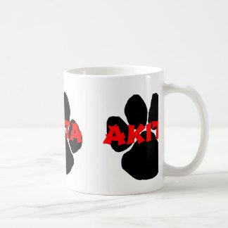 akita name paw coffee mug