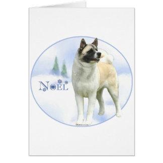 Akita Noel Card