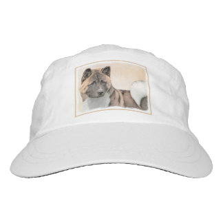 Akita Painting - Cute Original Dog Art Hat