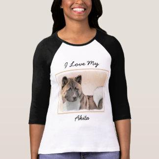 Akita Painting - Cute Original Dog Art T-Shirt