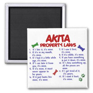AKITA Property Laws 2 Fridge Magnet