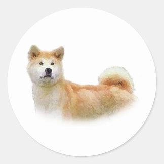 Akita Round Sticker