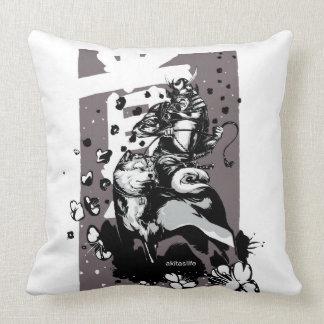 Akita Samurai Polyester Throw Cushion