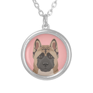 Akita Silver Plated Necklace