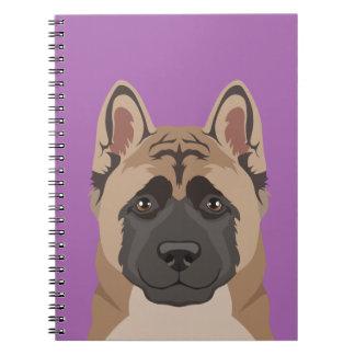 Akita Spiral Notebook