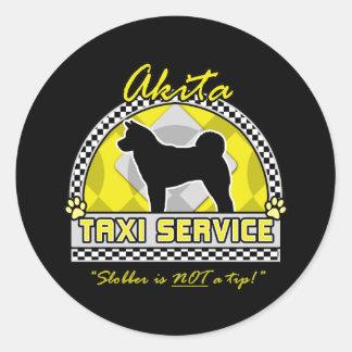 Akita Taxi Service Classic Round Sticker