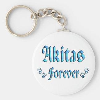 Akitas Forever Keychain