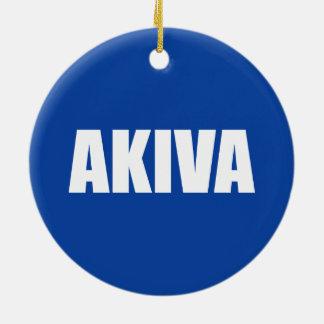 Akiva Round Ceramic Ornament