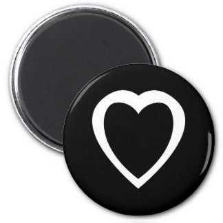 Akoma | Symbol for Patience and Tolerance White 2 Inch Round Magnet