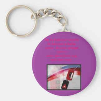 akomismo, let us help our country te become a b... basic round button keychain