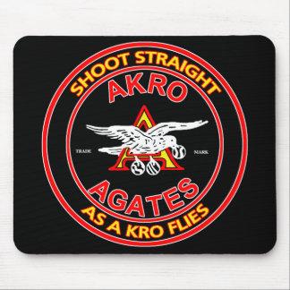 Akro Agate Black Mousepad