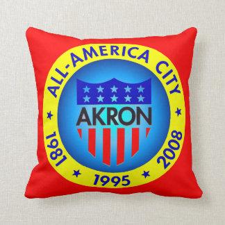 Akron All America Throw Pillow. Throw Pillow