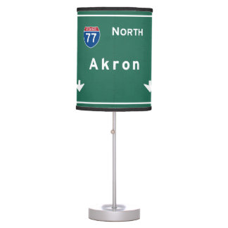 Akron Ohio oh Interstate Highway Freeway : Table Lamp