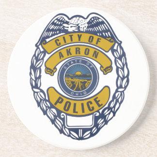 Akron Ohio Police Department Sticker. Coaster