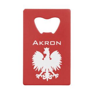 Akron Polish Eagle Bottle Opener Credit Card Bottle Opener
