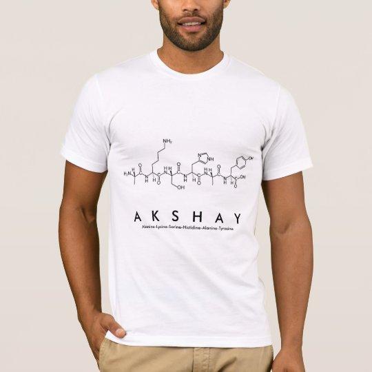 Akshay peptide name shirt