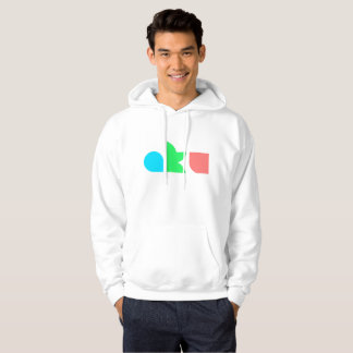 AKU Colour Logo White Hoodie Male