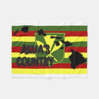 Akua's Country Kanaka Maoli Flag Fleece Blanket
