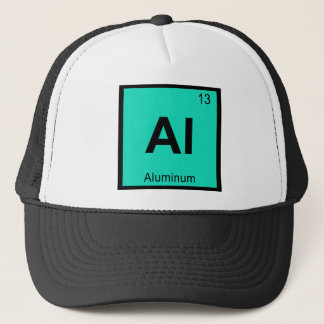 Al - Aluminum Chemistry Periodic Table Symbol Trucker Hat