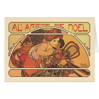 Al' Arbre De Noel- Alphons Mucha Card
