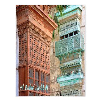 Al Balad Jeddah Saudi Arabia Postcard Magnetic Invitations