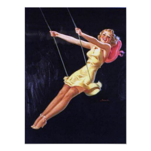 Al Buell Vintage Pin Up Girls (Poster)