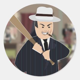 Al Capone(Simple History) Round Sticker