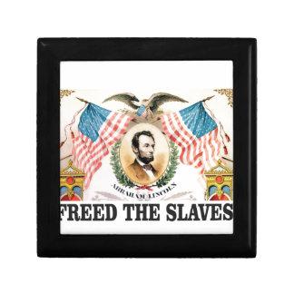 AL freed the slaves Gift Box