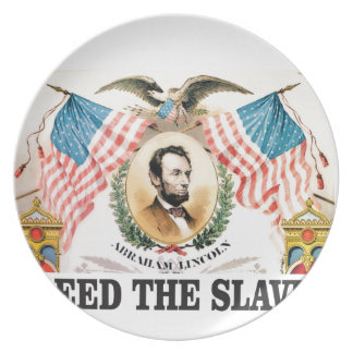 AL freed the slaves Plate