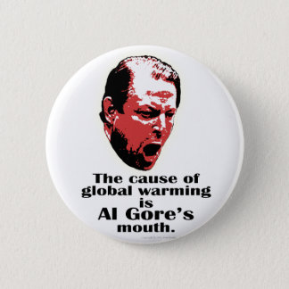 Al Gore Global Warming Black 2 Inch Round Button