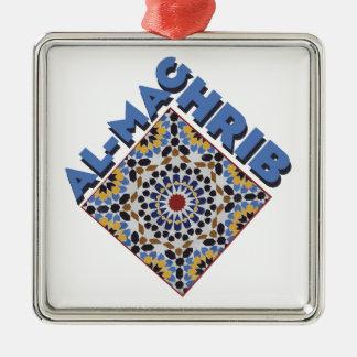 Al-Maghrib Tile Silver-Colored Square Ornament
