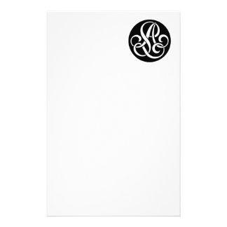 AL Monogram Stationery Design