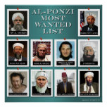 AL-PONZI MOST WANTED LIST POSTER