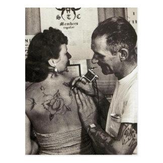 Al Shieferly tattoos Rose Postcard