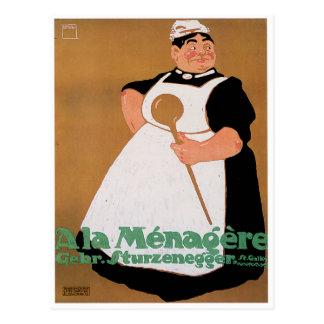 Ala Menagere Vintage Food Ad Art Postcard