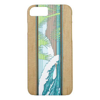 Ala Moana Hawaiian Faux Koa Wood Surf Sign iPhone 8/7 Case