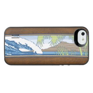Ala Moana Hawaiian Faux Koa Wood Surf Sign iPhone SE/5/5s Battery Case
