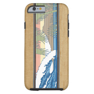 Ala Moana Hawaiian Faux Koa Wood Surf Sign Tough iPhone 6 Case