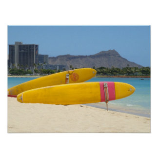 Ala Moana Surfboards Poster