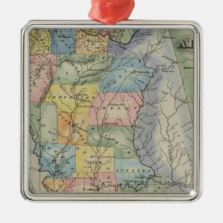 Alabama 2 Silver-Colored square ornament