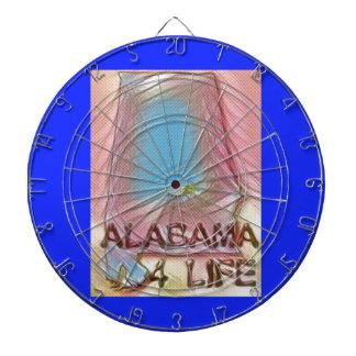 "Alabama ""4 Life"" Digital State Map Painting Dartboard"