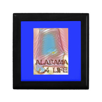 "Alabama ""4 Life"" Digital State Map Painting Gift Box"