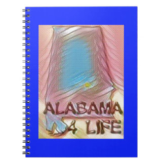 "Alabama ""4 Life"" Digital State Map Painting Notebook"