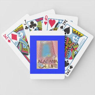 "Alabama ""4 Life"" Digital State Map Painting Poker Deck"