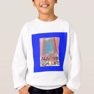 "Alabama ""4 Life"" Digital State Map Painting Sweatshirt"